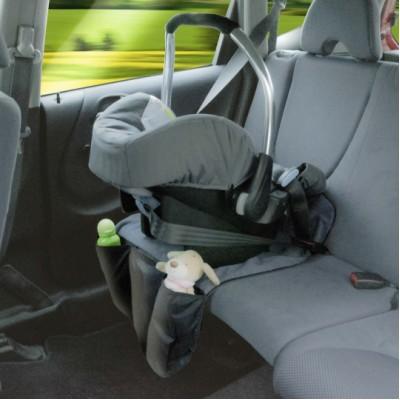 Schutzunterlage Autositz mit 3 Taschen