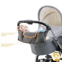 Deluxe Kinderwagen-Organizer - Grau Orange